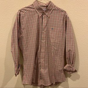 Southern Tide button down plaid checkered shirt